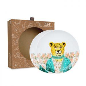 Animal Spring Series – Salad Plate Tiger [2 PCS + Box]
