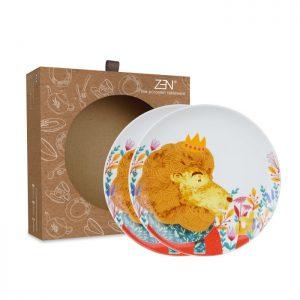 Animal Spring Series – Salad Plate Lion [2 PCS + Box]