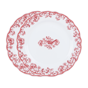Earth Garden Burgundy – Piring Makan Keramik Dinner Plate (2pcs) + Box
