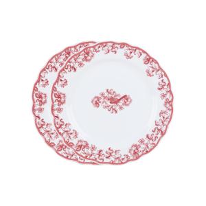 Earth Garden Burgundy – Piring Keramik Salad Plate 22cm 2pcs+ Box