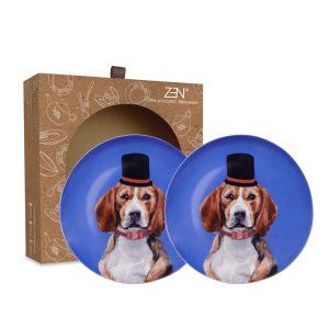 Cute Glamorous Pet Series – Salad Plate Genius Beagle