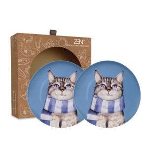 Cute Glamorous Pet Series – Salad Plate Sociable Cat